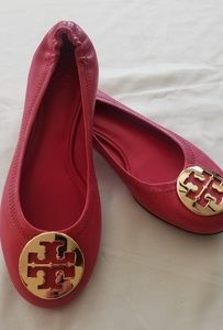 Tory Burch Red/Pink Flats